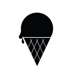 Icecream icon black vector