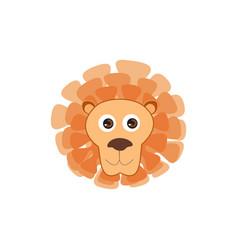 lion head animal lion face cartoon isolated baby vector image
