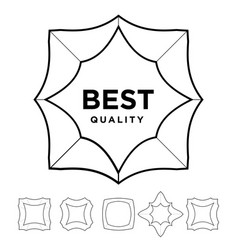 Medal award best quality stars outline silhouette vector