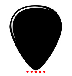 Mediator for guitar icon color fill style vector