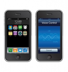 mobile iphone vector image