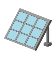 Panel solar isolated icon design vector
