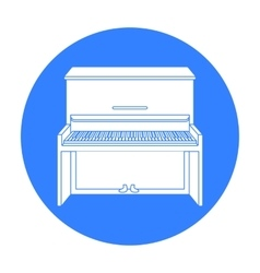 Piano icon in black style isolated on white vector image vector image