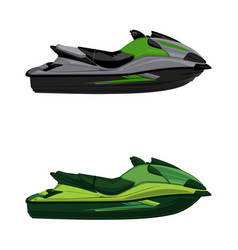 Set jet ski scooter vector