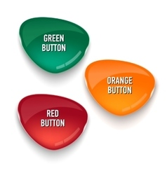 Set of colored glass buttons for web interface vector image