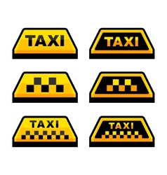 Taxi Logo Set vector image vector image
