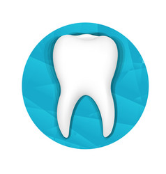 tooth logo vector image vector image