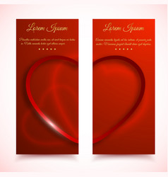 valentines vertical banners set vector image