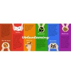 Volunteer work opportunities infographic vector