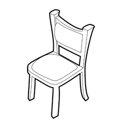 Chair icon isometric 3d style vector image