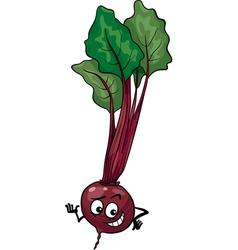 cute beet vegetable cartoon vector image
