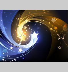 Background with two contrasting stars vector