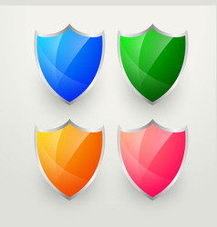 Shiny colorful badges set vector