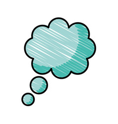 Dreams cloud isolated icon vector