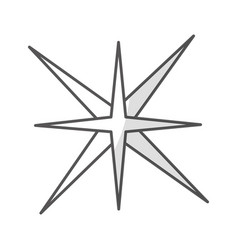 Star burst isolated icon vector