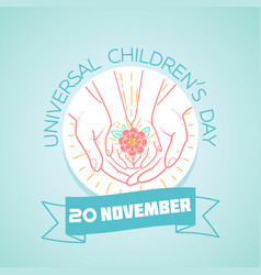 20 november childrens day flower vector