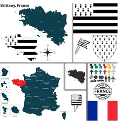 Map of brittany vector
