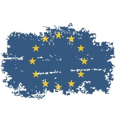 European union grunge flag vector