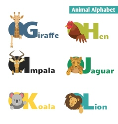 Animal alphabet vector
