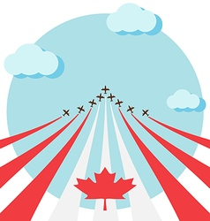 Air show for celebrate the national day of canada vector