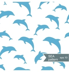 Abstract dolphin pattern vector