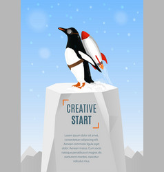 Creative start and creative idea concept poster vector image
