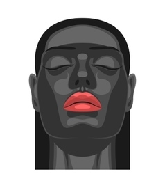 Beauty model with black skin vector