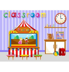 Classroom for kindergarten students vector image