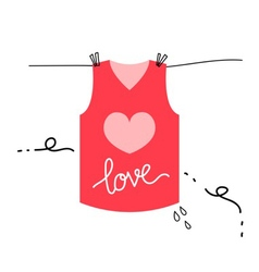 Love shirt vector