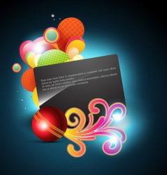 abstract ball background vector image vector image
