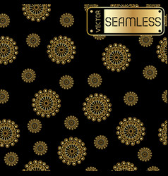 Abstract seamless golden pattern with swirls on vector