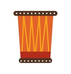 african drum isolated icon vector image