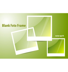 Blank of Photo Frame vector image vector image