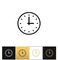 Clock sign or simple time icon vector image vector image