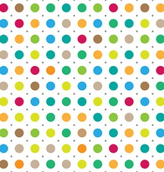 Colorful seamless polka dots background vector image vector image