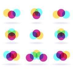 colorful symbols vector image vector image