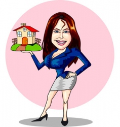 estate agent vector image