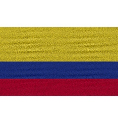 Flags Colombia on denim texture vector image vector image