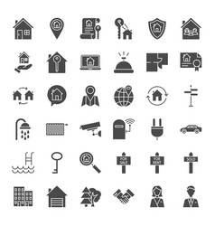 House solid web icons vector