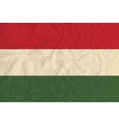 Hungary paper flag vector image