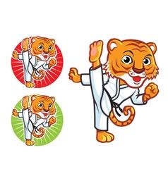 Karate Tiger vector image vector image