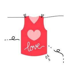 Love shirt vector