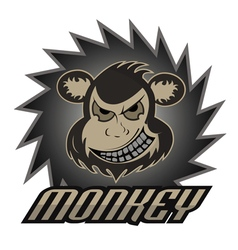 Monkey logo team professional logo vector