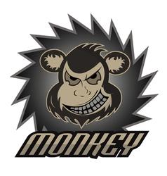 Monkey logo team professional logo vector