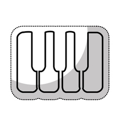 piano instrument isolated icon vector image vector image