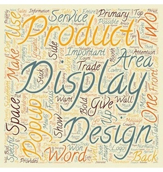 Popup display design tips and tricks text vector