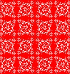Red lace vector image
