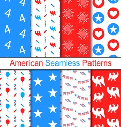 Set Seamless Pattern for Independence Day vector image vector image