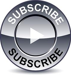 Subscribe round button vector