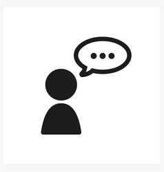 Talk human icon in simple black design vector
